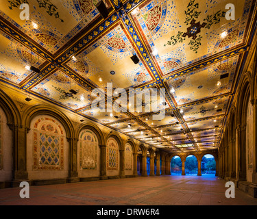 New York City at Bethesda Terrace underpass in Central Park. - Stock Photo