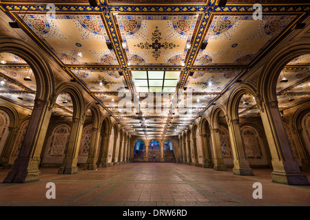 New York City at Bethesda Terrace underpass in Central Park.