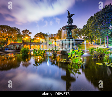 New York City at Bethesda Terrace in Central Park. - Stock Photo