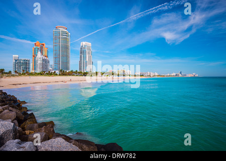 Miami, Florida at South Beach. - Stock Photo