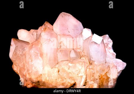 the pink quartz - Stock Photo