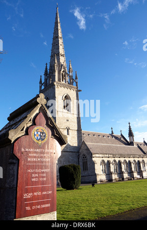 St Margaret's Church, Bodelwyddan, North Wales, also known as the Marble Church. - Stock Photo