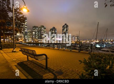 Yaletown long exposure of seawall.Vancouver B.C. - Stock Photo