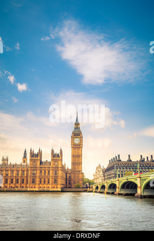 CLouds over Big Ben - Stock Photo