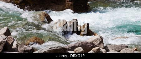 Mountain stream in the austrian alps - Stock Photo