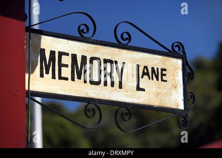 Sign at Shantytown heritage gold mine theme park near Greymouth, New Zealand - Stock Photo