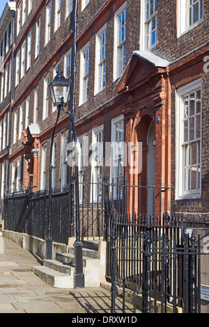 City of London, Inner Temple    A section of King's Bench Walk, 1678-84 - Stock Photo