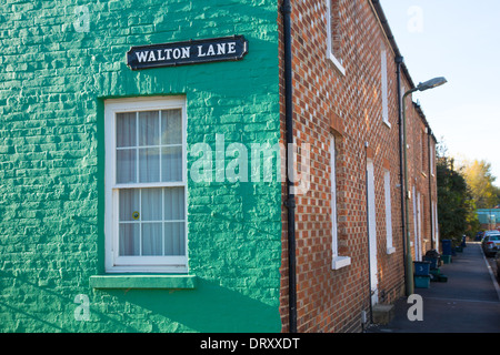 A Terraced House in Jericho, North Oxford - Stock Photo