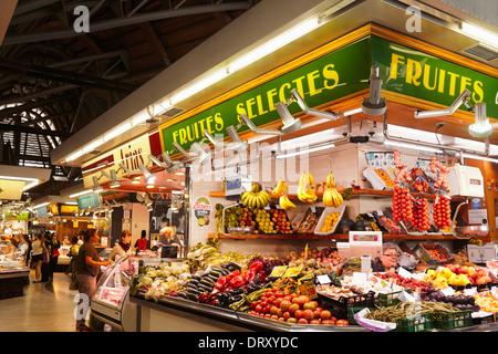 Santa Caterina Market at the Gothic Quarter. Barcelona. Catalonia. Spain - Stock Photo