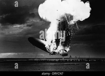 Hindenburg disaster Stock Photo