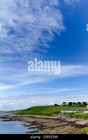 Row of houses at Roche's Point in County Cork, Ireland - Stock Photo