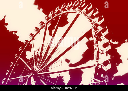 Ferris wheel in the HafenCity - Stock Photo