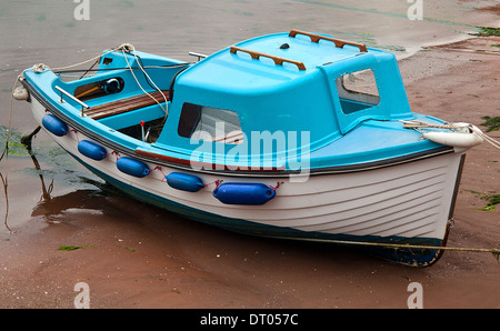 Pleasure Boats waiting for the tide Brixham Harbour  ,Devon - Stock Photo