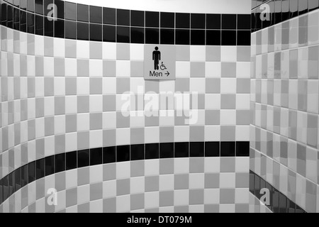 Entrance to a men's public washroom in a mall in Toronto, Canada - Stock Photo
