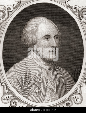 Charles Lee, 1732-1782. British soldier who served as a General of the Continental Army during the American War - Stock Photo