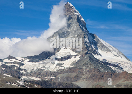 Monte Cervino, or Matterhorn, swiss mountain. - Stock Photo