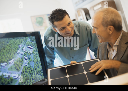 Woodstock New York USA Two men project architects environment building - Stock Photo