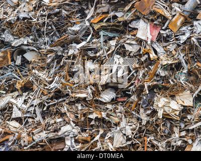 Washington USA heap of scrap metal for recycling - Stock Photo