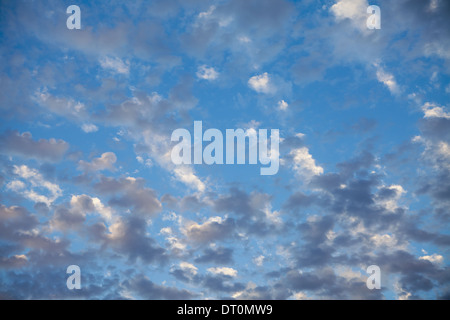 Seattle Washington USA Wispy clouds in blue sky nearing dusk Seattle USA - Stock Photo