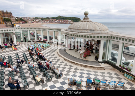 Morning concert in the Sun Court at the Spa, Scarborough, North Yorkshire - Stock Photo