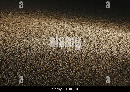 Black Rock Desert Nevada USA Dry desert surface at night in Black Rock Desert - Stock Photo