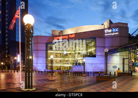 The Symphony Hall and ICC in Centenary Square Birmingham - Stock Photo