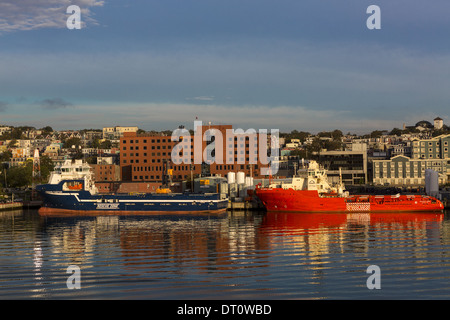 Waterfront view of St John's Newfoundland Canada - Stock Photo