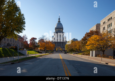 The Illinois Capitol Building in Springfield, IL. - Stock Photo
