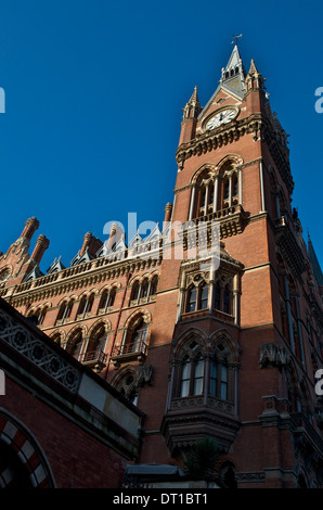 St Pancras Renaissance Hotel, Euston Road, London-designed by George Gilbert Scott and built in 1873 - Stock Photo