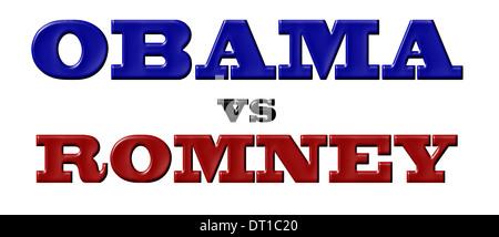 Obama vs Romney - Stock Photo