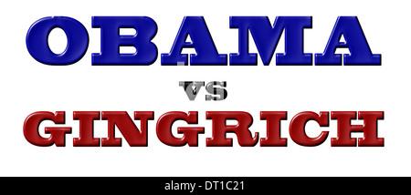 Obama vs Gingrich - Stock Photo