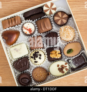 Luxury chocolate bonbons in a box. - Stock Photo