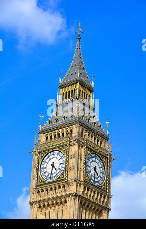 Close up of Big Ben clock tower now officially Elizabeth Tower - Stock Photo