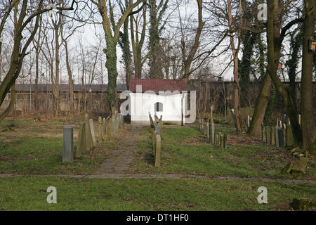 Auschwitz-Birkenau,Poland,5th February 2014,A Jewish Cemetery remains at Auschwitz which was renovated in the 1980 - Stock Photo