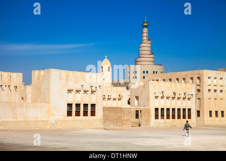 Mosque and Fanar Qatar Islamic Cultural Center, Doha, Qatar, Middle East - Stock Photo