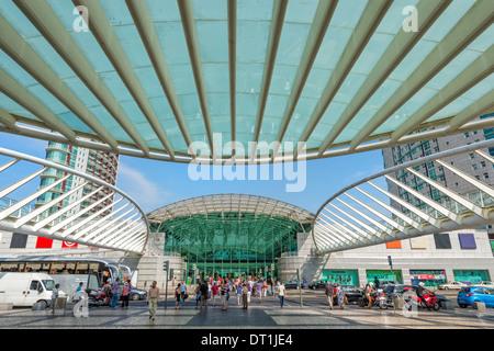 Vasco da Gama Shopping Mall, Parque das Nacoes (Park of the Nations), Lisbon, Portugal, Europe - Stock Photo