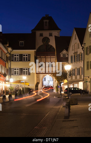 Old town of Meersburg, Lake Constance (Bodensee), Baden Wurttemberg, Germany, Europe - Stock Photo