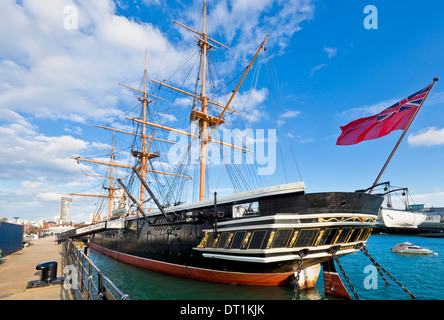 HMS Warrior in the docks Portsmouth Historic Dockyard, Portsmouth, Hampshire, England, United Kingdom, Europe - Stock Photo