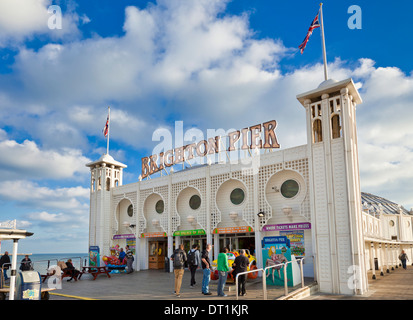 Entrance to Brighton Pier, Brighton, East Sussex, England, United Kingdom, Europe - Stock Photo