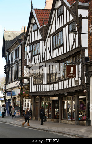 The 15th century half-timbered house of Sir Thomas Herbert Bart, Pavement, York, Yorkshire, England, United Kingdom, - Stock Photo