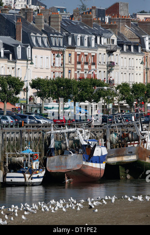 Fishing port of Trouville-sur-Mer, Calvados, Normandy, France, Europe - Stock Photo