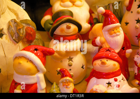 Snowmen, Christmas Market, Albert Square, Manchester, England, United Kingdom, Europe - Stock Photo