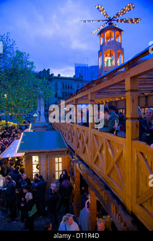 Christmas Market, Albert Square, Manchester, England, United Kingdom, Europe - Stock Photo