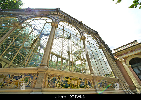 Crystal Palace in Buen Retiro Park in Madrid - Stock Photo