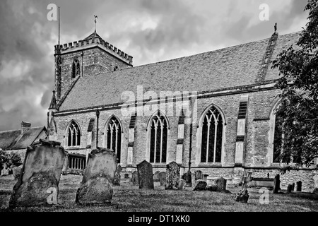 Dorchester Abbey, or the Abbey Church of St Peter and St Paul in Dorchester-on-Thames, Oxfordshire, Great Britain. - Stock Photo