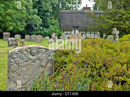 The churchyard of Dorchester Abbey, or the Abbey Church of St Peter and St Paul, Dorchester-on-Thames, Oxfordshire, - Stock Photo