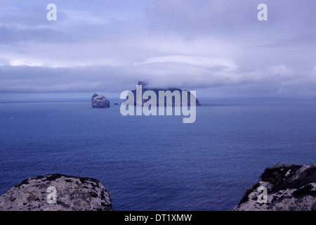 The Island of Boreray with Stac Lee in the foreground, from St Kilda. Atlantic Ocean. Scotland - Stock Photo