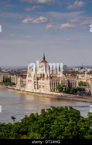Hungarian Parliament building, Budapest - Stock Photo