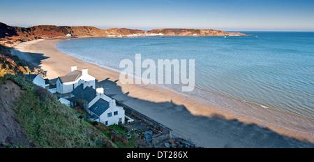 Porthdinllaen Beach, Nefyn, Lleyn Peninsula, Gwynedd, North Wales, UK - Stock Photo