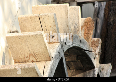 Old water mill wheel - Stock Photo